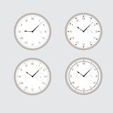 Set of gray clocks. Stock Images