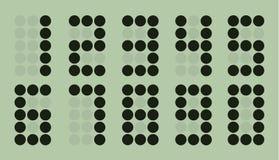 Set of gray dot digital number Royalty Free Stock Photos