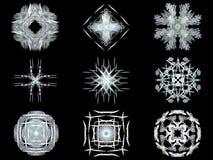 Set gray fractal abstract patterns Stock Photos