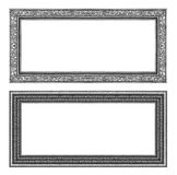 Set gray frame isolated on white background , clipping path Stock Photo