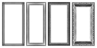 Set of gray frame white background, with clipping path Royalty Free Stock Photos