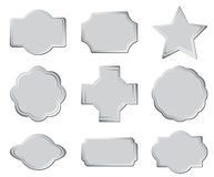 Set of the gray frames - eps Royalty Free Stock Image