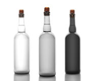 Set of gray ,glass bottles c tube, isolated on white background Stock Photography