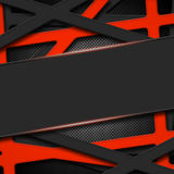 Set 8. gray and orange frame on black carbon fiber. Metal background and texture. 3d illustration Stock Photography