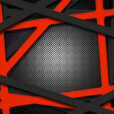 Set 8. gray and orange frame on black carbon fiber. Metal background and texture. 3d illustration Stock Images