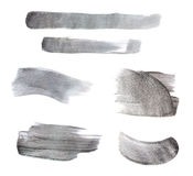 Set of gray paint strokes Royalty Free Stock Image