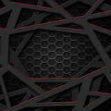 Set 8. gray and red frame on black mesh. Royalty Free Stock Images