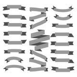 Set gray ribbons on a white background. Set gray ribbons on a white background Stock Image