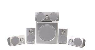 Set of gray sound speakers. Stock Image