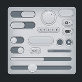 Set of gray ui web elements Stock Photography