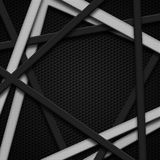 Set 8. gray and white frame on black carbon fiber. Metal background and texture. 3d illustration Stock Photo