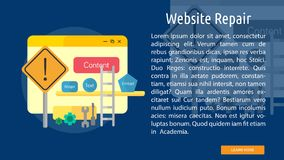 Website Repair Conceptual Banner. Set of great flat design illustration concepts for web, maintenance, internet, network and much more Stock Image