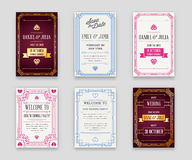 Set of Great Quality Style Invitation in Art Deco or Nouveau Epo Royalty Free Stock Images