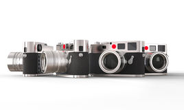Set of great retro styled photo cameras Stock Photography