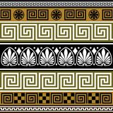 Set of greek borders Royalty Free Stock Images