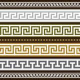 Set of greek geometric borders Royalty Free Stock Images