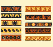 Set of greek pattern. Collection of ancient greek patterns Royalty Free Stock Images