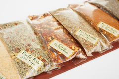Set of greek spices Stock Image
