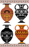 Set of Greek vases stock illustration