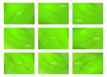 Set of green abstract background with copy space for text. Moder. N template design for cover, web banner, screen and magazine. Vector illustration stock illustration