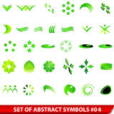 Set of green abstract symbols Royalty Free Stock Images