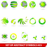 Set of green abstract symbols Royalty Free Stock Photography
