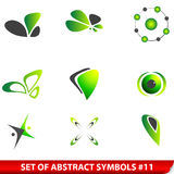 Set of green abstract symbols Royalty Free Stock Photos