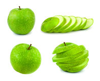 Set of green apples Stock Image