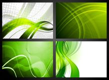 Set of green backdrops Stock Photos