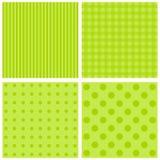 Set of green background patterns pastel tones. Royalty Free Stock Photos