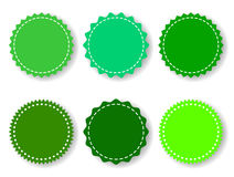 Set of the Green Badges Stock Images