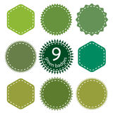 Set of the Green Badges Royalty Free Stock Photography