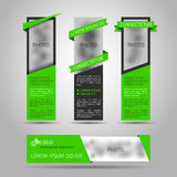 Set of green banners. Royalty Free Stock Images