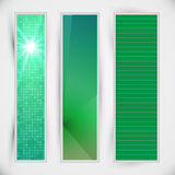 Set of green banners. And template concept Royalty Free Stock Image