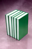 Set of green books Royalty Free Stock Images