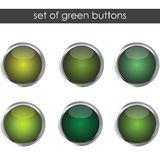 Set of green buttons Stock Images