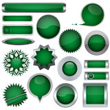A set of green buttons Stock Photography