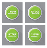 Set of green  buttons Royalty Free Stock Photos