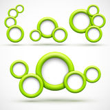 Set of green circle banners Royalty Free Stock Photos
