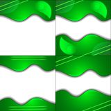 Set Green cloth texture background with place for Stock Image