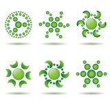 Set of green design elements Stock Image