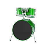 Set of Green drums isolated Stock Photography