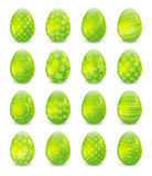 Set of green Easter eggs Royalty Free Stock Photo