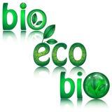Set of green eco icons royalty free illustration