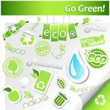 Set of green ecology icons. Stock Image