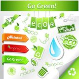 Set of green ecology icons. Stock Photography
