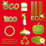 Set of green ecology icons Stock Photo