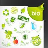 Set of green ecology icons. Royalty Free Stock Image
