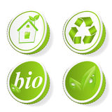 Set of green ecology tags Royalty Free Stock Image