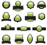 Set of green element Stock Images